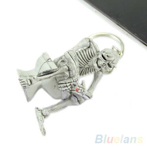 Bluelans Moda Criativa Higiênico Crânio Saco Bolsa de Borracha Keychain Presente Chaveiro Chaveiro