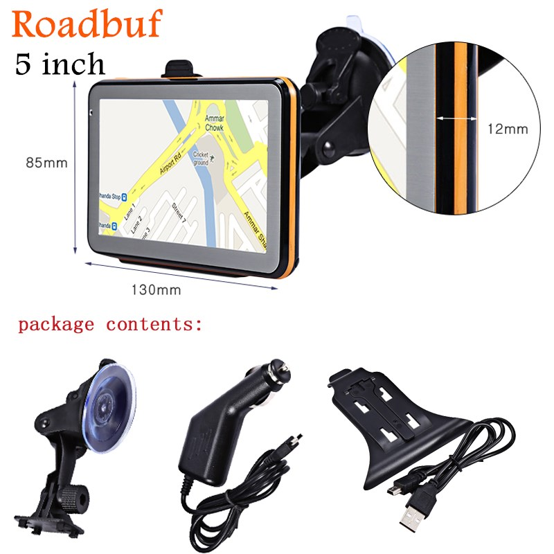 цены на Hot Sale 5 Inch GPS Navigation Wince Voice Guidance Car GPS Auto Map Europe North/South America Middle East Australia