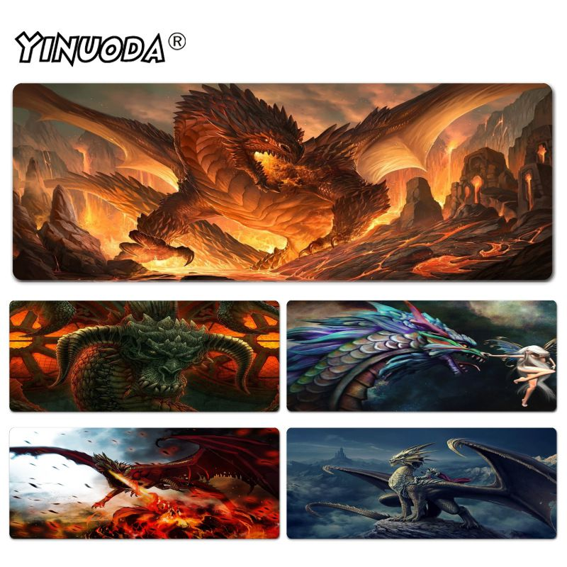 Yinuoda Digital Art Dragon mouse pad gamer play mats Size for 40x90CM Speed Version Gaming Mousepads rakoon 30x80cm 40x90cm large gaming mouse pad blue dragon lock edge desktop computer mousepads mat for csgo dot 2 lol gamer