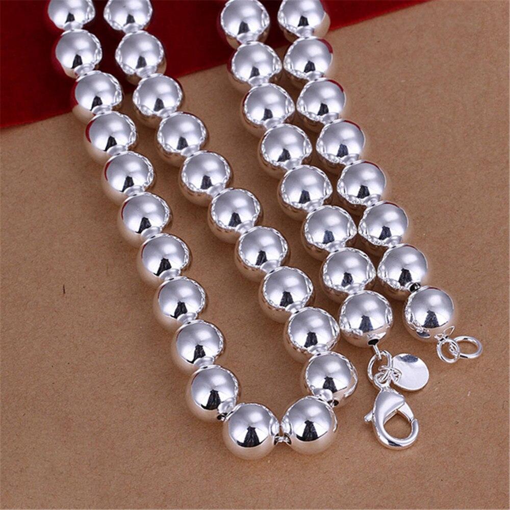 Создание простой формы ожерелье для женщин посеребренные бусины цепь femme горячие модные аксессуары и украшения повседневная оптовая CCNE0734