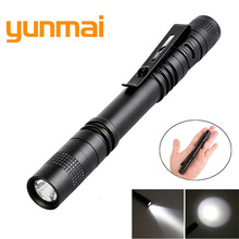 Mini Penlight XPE-Q5 LED Flashlight Torch Hugs by Pocket Light 1 Switch Modes Outdoor Camping Light Use 1* AAA Battery lanterna panyue 2 packs xml t6 cob led mini pocket flashlight work light penlight torch lamp high 1000lumens 6 modes camping lanterna