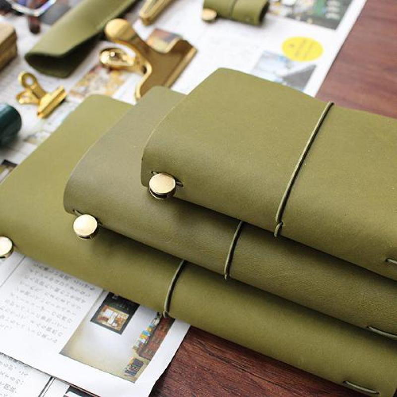 DinThenon Călătorii Notebook Olive Green Planificator Piele Genuine - Blocnotesuri și registre - Fotografie 6