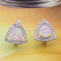 Jinyao sieraden fire opal & zirconia 925 zilveren stempel oorbellen voor engagement 5 kleuren