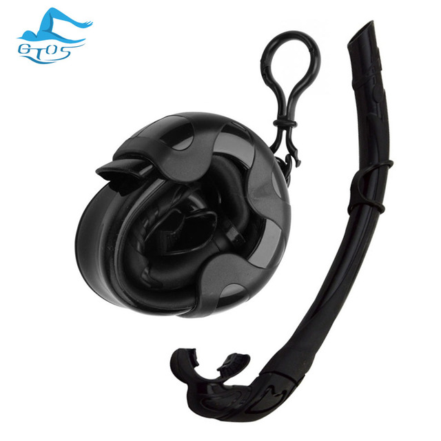 All Silicone Foldable Snorkel Dive Scuba Free Diving detachable snorkeling diving tube wet breathin