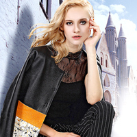 2015 Top High Quality Women S Sheepskin Horsehair Spliced Trench Medium Long High Quality Genuine Leather