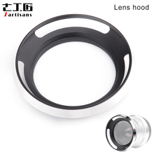7 artisans 46mm için Bacalı Metal Lens Hood 7 artisans 25mm f1.8 Lens için Olympus için leica ve Sony Lens Gümüş