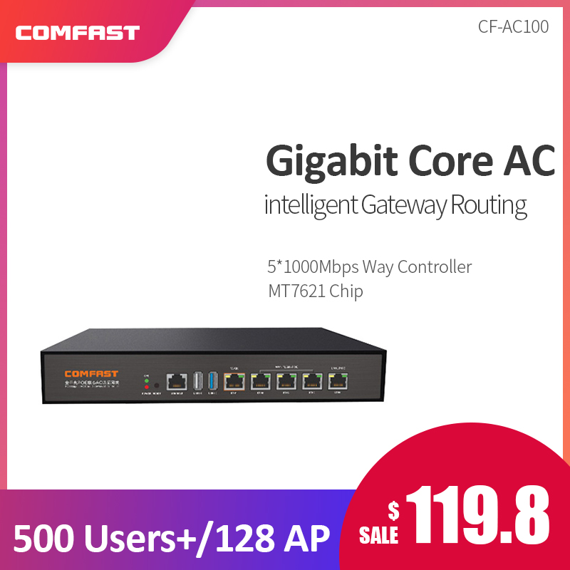 Comfast CF AC100 Gigabit AC Authentication Gateway Routing MT7621 880Mhz Multi WAN Load balance Core Gateway