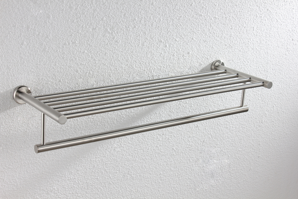 100% Quality Assurance!  63 cm Length Brushed 304 Stainless Steel Dual Tier Towel Shelf  - Free Shipping YS-1001 free delivery mc9s12h128vfv mc9s12h128vfve jiaxing electronic quality assurance