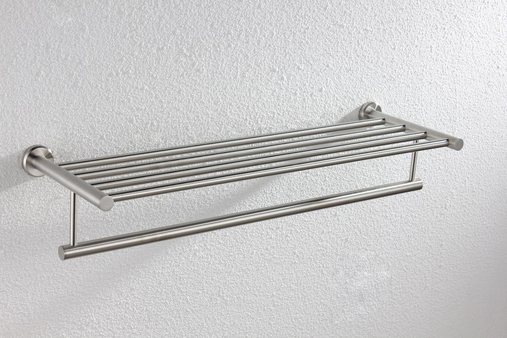 Comprar ¡100% garantía de calidad! 63 cm longitud cepillado 304 Acero inoxidable Tier estante envío libre YS 1001 de shelf system fiable proveedores en C&C SANITARY WARE Store