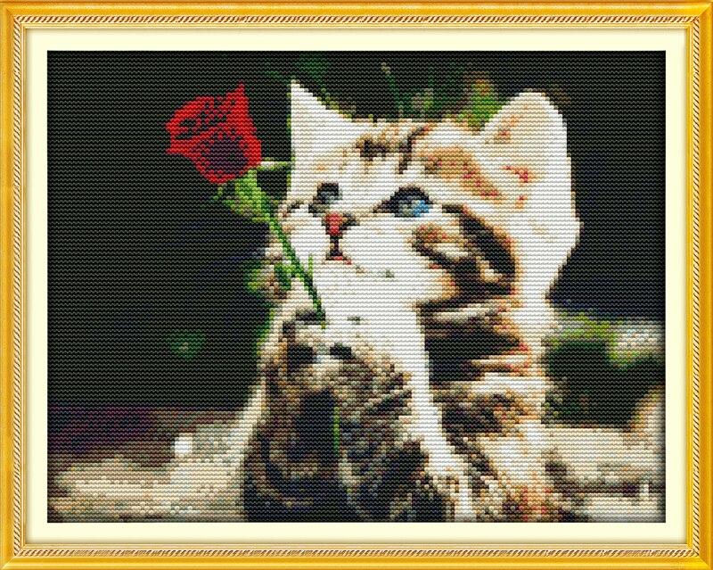 Joy Sunday Animal Style Waiting For Love Wedding Cross Stitch
