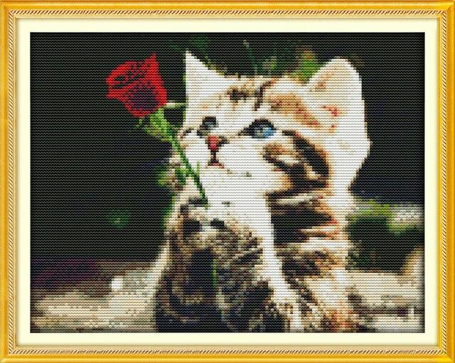 Joy Sunday animal style Waiting for love wedding cross stitch ...