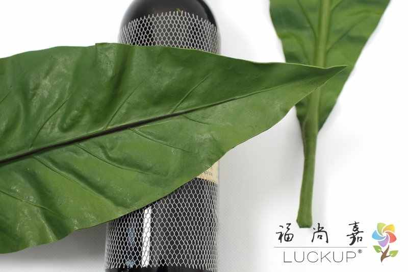 1 Pcs 50 Cm Lange Real Touch Geen Stem Kunstmatige Pu Zachte Grote Groene Bladeren Plant Huis Tuin Bureau Gift decoratie F526