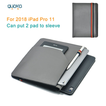 """Können setzen 2 pad hülse beutel abdeckung, mikrofaser leder tablet sleeve fall für 2018 iPad Pro 11"""""""