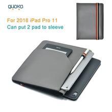 """Kan zetten 2 pad sleeve pouch cover, microfiber lederen tablet sleeve case voor 2018 iPad Pro 11"""""""
