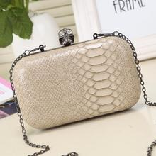 fashion women evening bags skull hasp chain women shoulder bag hand new 2016 hot lady bag