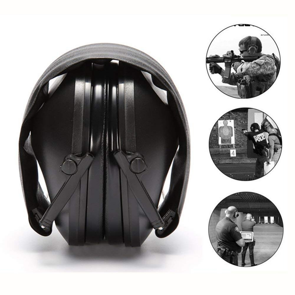 Ear Protector Tactical Shooting Earmuff Adjustable Foldable Anti Noise Snore Earplugs Soft Padded Noise Canceling Headset