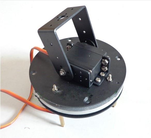 2-DOF robot arm parts servo turntable base frame + MG995 servo * 2 gimbal Robotic arm base for Arduin0 freeship 2x 25t servo arm belt pulley servo belt sheave for continuous rotation dsservo servo mg995 mg996 futaba robot diy