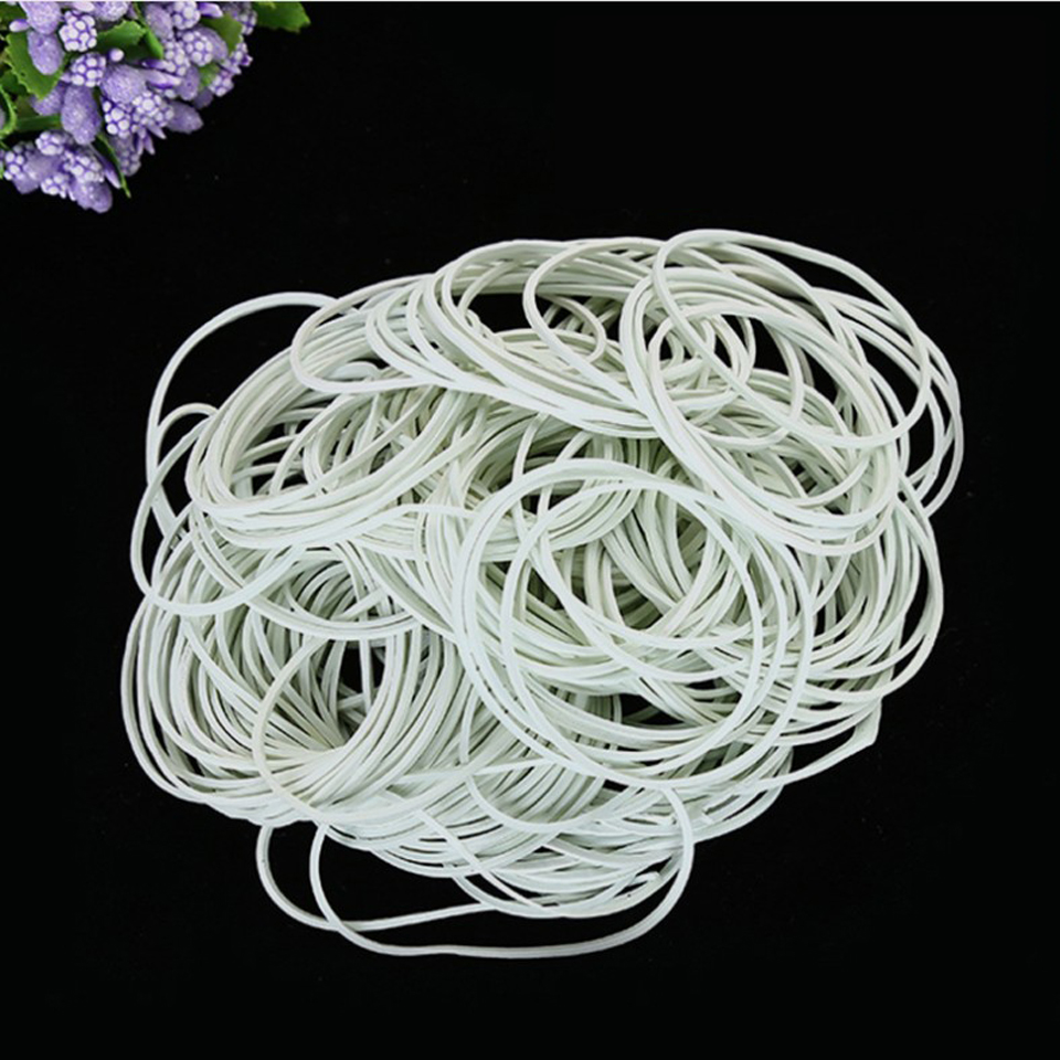 400pcs High Quality White Elastic Rubber Band 38-50mm For School Office Home Industrial Rubber Band Stationery Packaging Tape