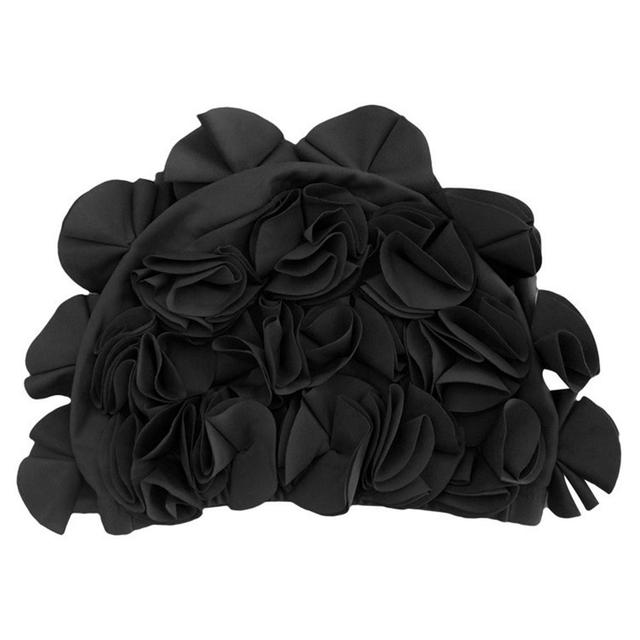 Beautiful 36 Lily Flowers Design Free Size Swimming Cap for Women