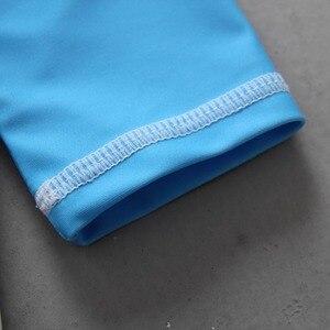 Image 4 - Conjunto de maiô com estampa de caranguejo, roupa de banho para bebês meninos com 3 peças, camiseta de manga longa para natação + troncos + chapéu