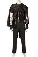 Cosplaydiy Movie Deadpool 2 Superhero CABLE Cosplay Costume Suit Adult Men T Shirt Pants Gloves Cloak Halloween Full Set Outfit