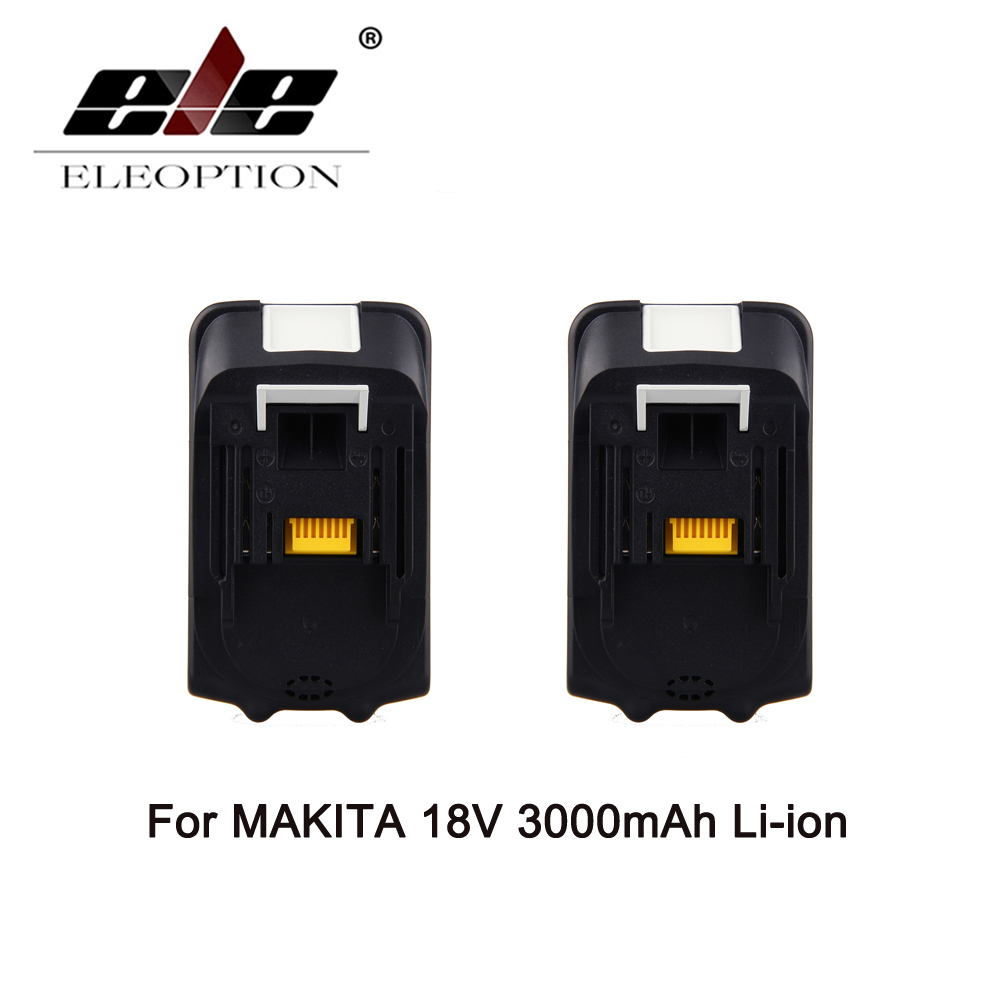 ELEOPTION 2PCS BL1830 18V 18 Volt Li-Ion Battery For Makita 3.0Ah 3000mah LXT Batteries Free Shipping коляска трость для кукол mary poppins фантазия голуб 41 28 56 см 67319