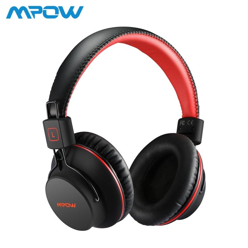 Mpow H1 Hi-Fi стерео Беспроводной Bluetooth наушники с микрофоном мягкие амбушюры Шум Отмена гарнитура наушники для iPhone андроид ТВ