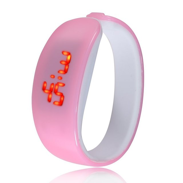 2018 new hot 10 color Dolphin Bracelet Watch Band Digital Watch Red LED Watches women  WristWatch Sport Clock Hours girls gifts