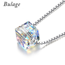 Bulage 925 Sterling Silver Choker Original Crystal From Swarovski elements Bead Necklace For Women Party Infinity Chain Jewelry(China)