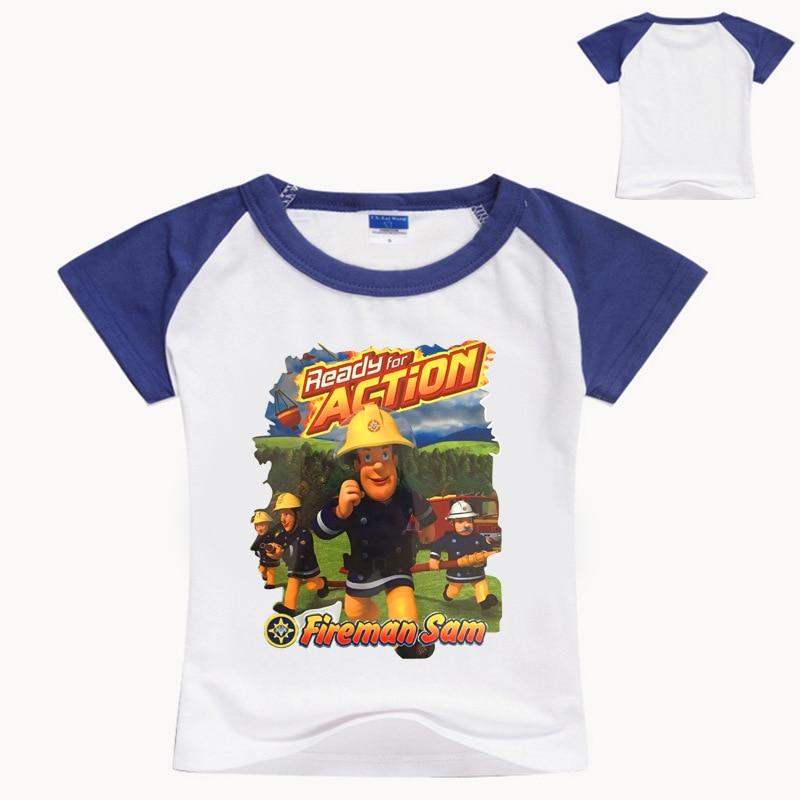 Bobo Choses 2017 Z&Y 3-16Years Fireman Sam Shirt Kids Clothes Boys Tops Child Pussy Boys Kids Top Tee Shirt Kids Fashion NO7156