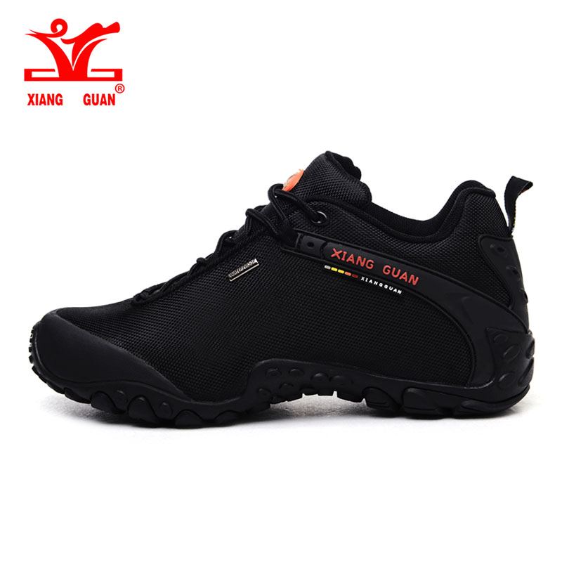 XIANG GUAN Outdoor Hiking <font><b>shoes</b></font> EUR size 39-48 man Breathable Anti-skid Windproof black travel <font><b>Shoe</b></font> Trend Sports Sneakers