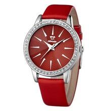 Disney бренда Микки Дети 30 м водонепроницаемый Девушка с кварцевые часы Аниме Мультфильм женские часы