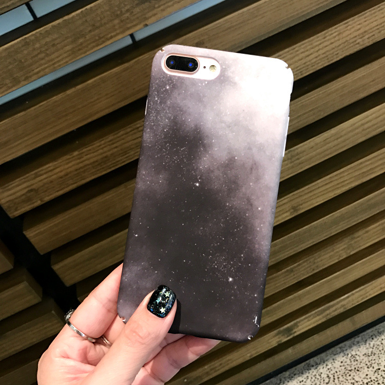 SZYHOME Phone Cases for IPhone 6 6s 7 Plus Moon Star Black Luxury Frosted for IPhone 7 Phone Cover Case Bag Capa Coque