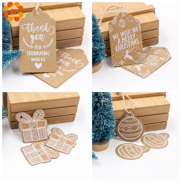 Christmas Themed Kraft Paper Tags