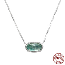 Popular 925 Sterling Silver KS Handmade Pendant Necklaces Clear Green CZ Women Fashion Jewelry Valentine's Day Gift
