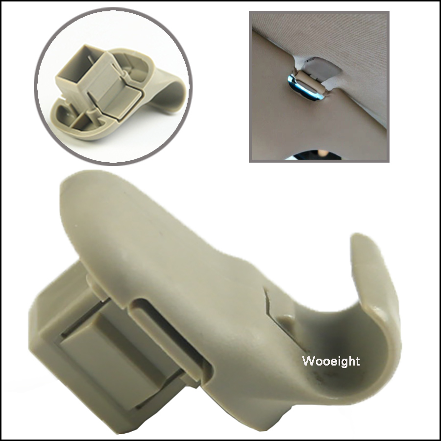 Wooeight OEM LC6269261B77 Sun Visor Mounting Clip Hook Adapter For Mazda 3 5 6 2006 2007 CX-7 CX-9 RX-8 Mazda MPV (2)