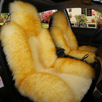 YIKA 2017 Winter New Plush Car Seat Cover Front Auto Interior Accessories Warm Wool Cushion Cover