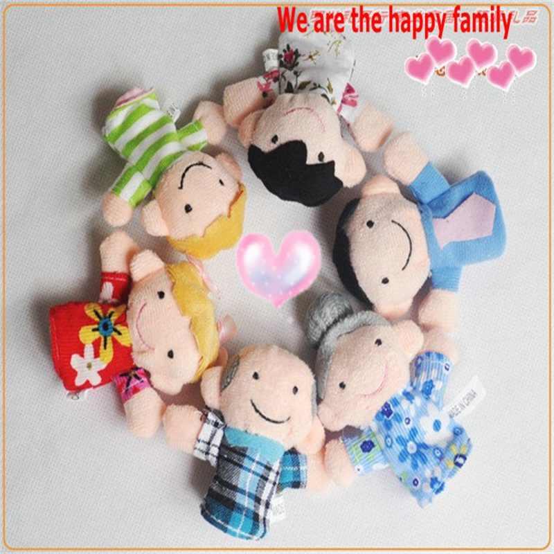 6 Pcs Pack Jari Boneka Happy Family Finger Mainan Boneka Jari Bayi Boneka kain Bayi Mainan Kid Anak Laki-laki Perempuan Tangan Mainan Pendidikan