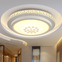 Crystal Modern LED Ceiling Lights For Living Room Bedroom Home Lighting Fixtures Remote Dimming Acrylic Lamp Round Light