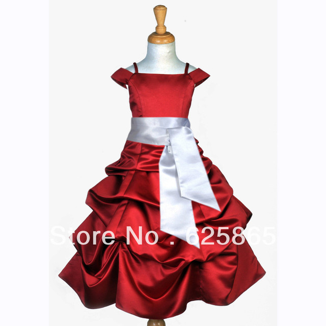 Aliexpress.com : Buy APPLE RED SILVER TODDLER PAGEANT FLOWER GIRL ...