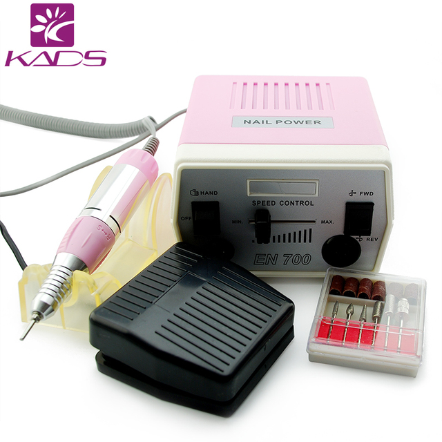 KADS New Arrival Pink 30000RPM Pro Electric Drill Machine Manicure Kits File Drill Bits Hot Band Accessory Nail Salon Tool