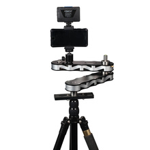 лучшая цена New Commlite 4-times Distance Retractable Mini Aluminum Alloy Video Slider for DSLR Camera Micro Camera Smartphone