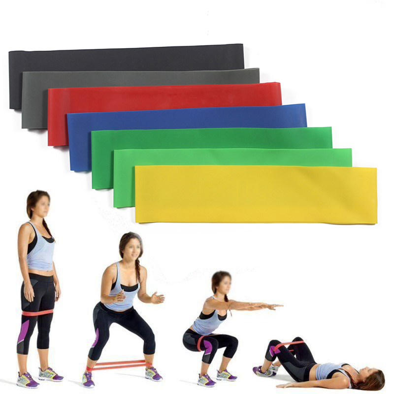 4Pcs Natural Latex Elastic Resistance Bands Gym Yoga Exercise Fitness Loop Rope Stretch Band Training Pull Up Belt Body Building