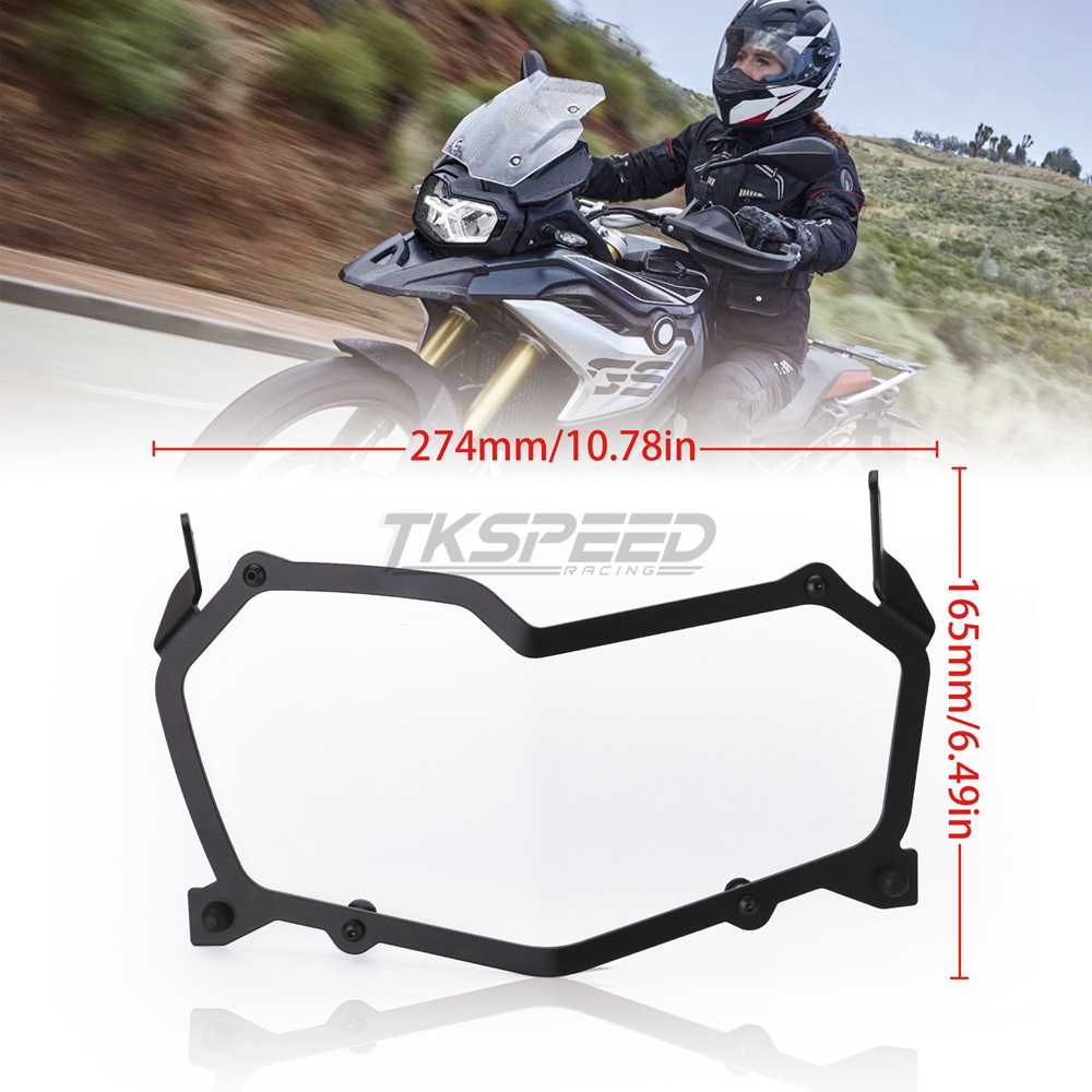 Image 3 - Black Motorcycle Headlight Protection Net Headlight Protection Quick Release Headlight Cover For BMW F850GS F750GS-in Covers & Ornamental Mouldings from Automobiles & Motorcycles