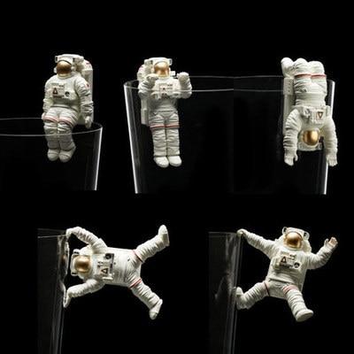Pvc figure Astronaut model speelgoed 5 stks/set