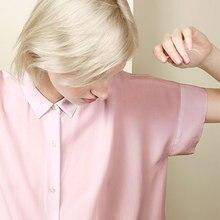 France original EV 100% silk solid women short sleeve oversize fit shirt everlane ladies loose blouse spring autumn