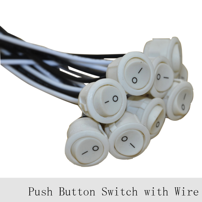 24pcs 6A Push Button Lamp Switches UL Key Switch Wire ON/OFF Switch ...