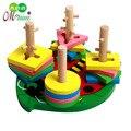 Ábaco Hot Venda Nova 2016 Mãe Fantasia de Madeira Educação infantil forma Cor Sabe Brinquedos The Beatles Quatro Coluna Conjunto de Construção blocos