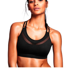 Women Summer Push Up High waist Workout Running Breathable Sports font b Bra b font Gym