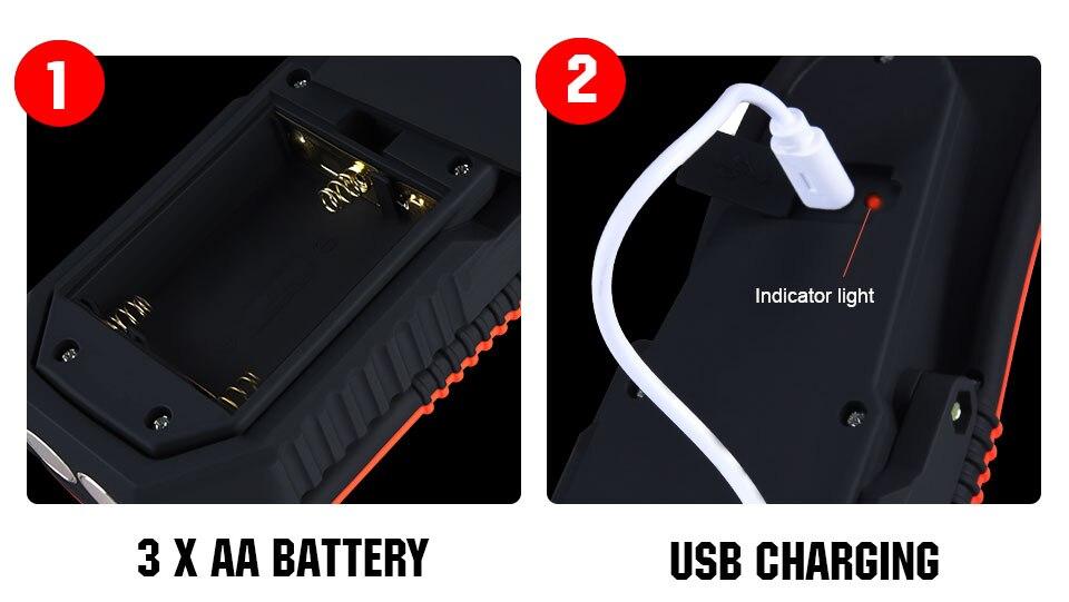 Portable Battery Rechargeable COB Led Light  (14)